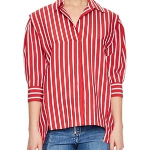 Sandro Cherie Striped Puff Sleeve Top Size 1